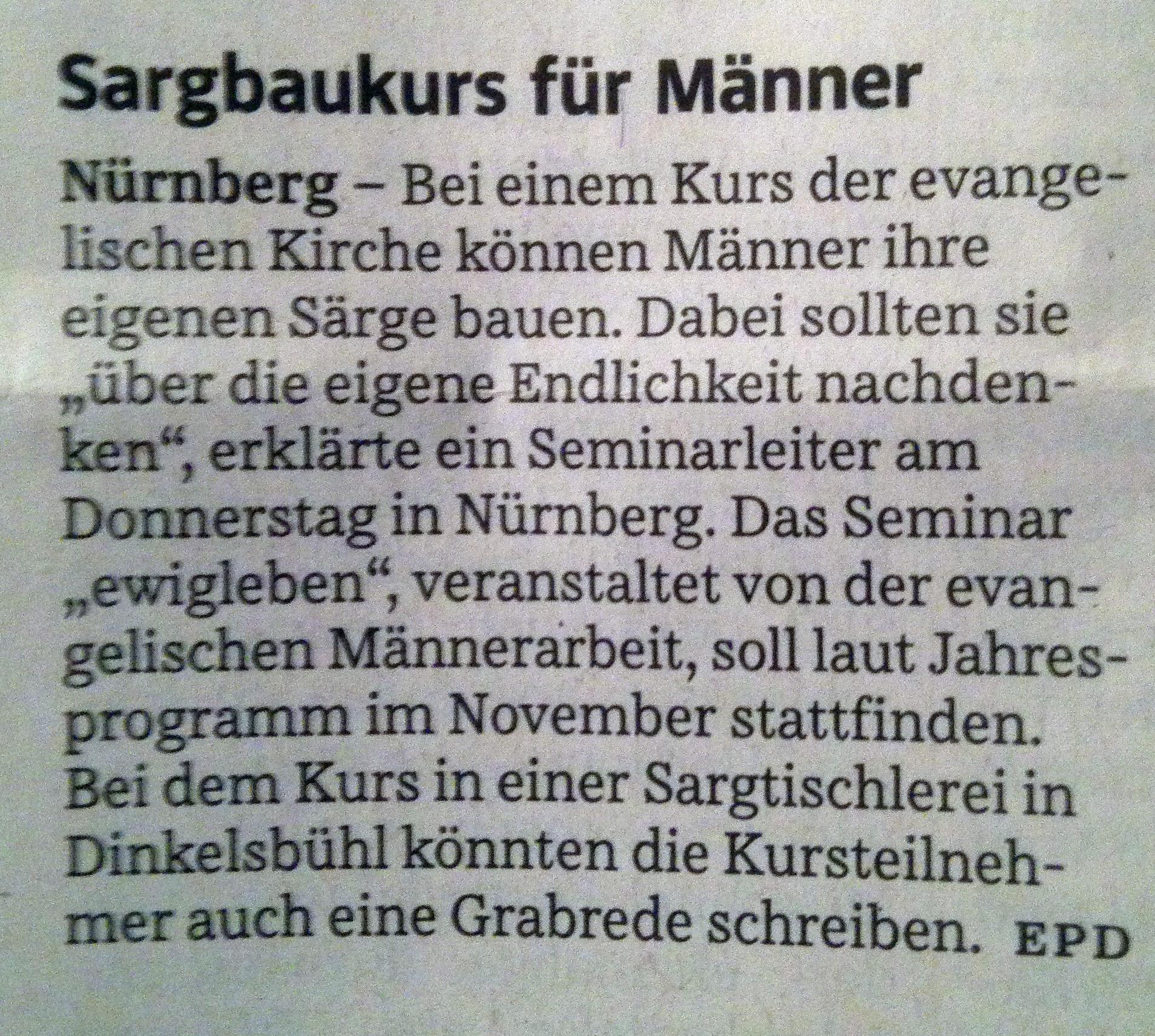 Sei ein Nagel zu deinem Sarg! – deutschmeisterei.de